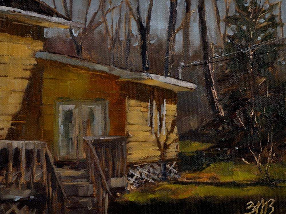 """Holiday Home"" original fine art by Brienne M Brown"