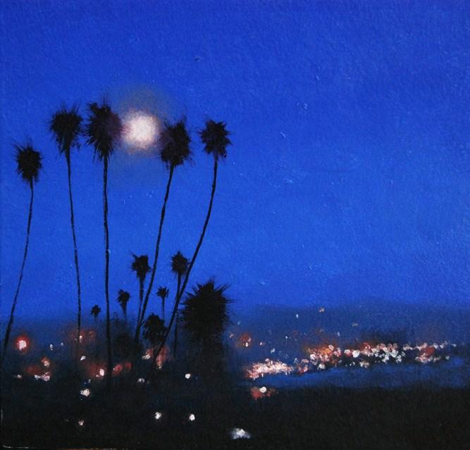 """""""LAGUNA MOON"""" original fine art by Gerald Schwartz"""