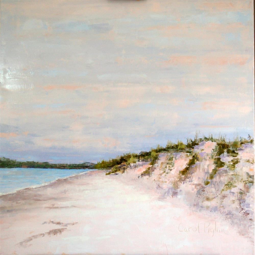 """Winter White Beach"" original fine art by Carol Pighin"