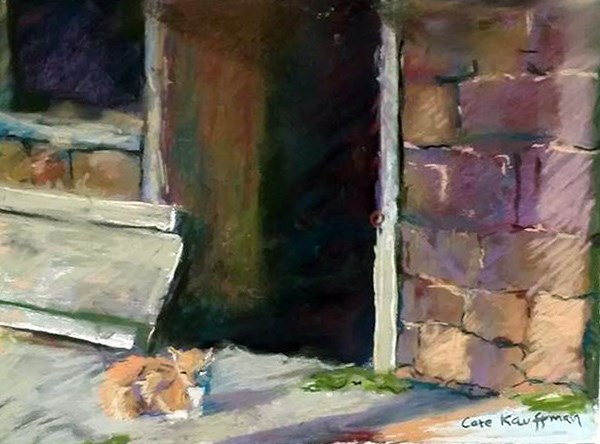 """Pennsylvania Barn Cat"" original fine art by Catherine Kauffman"