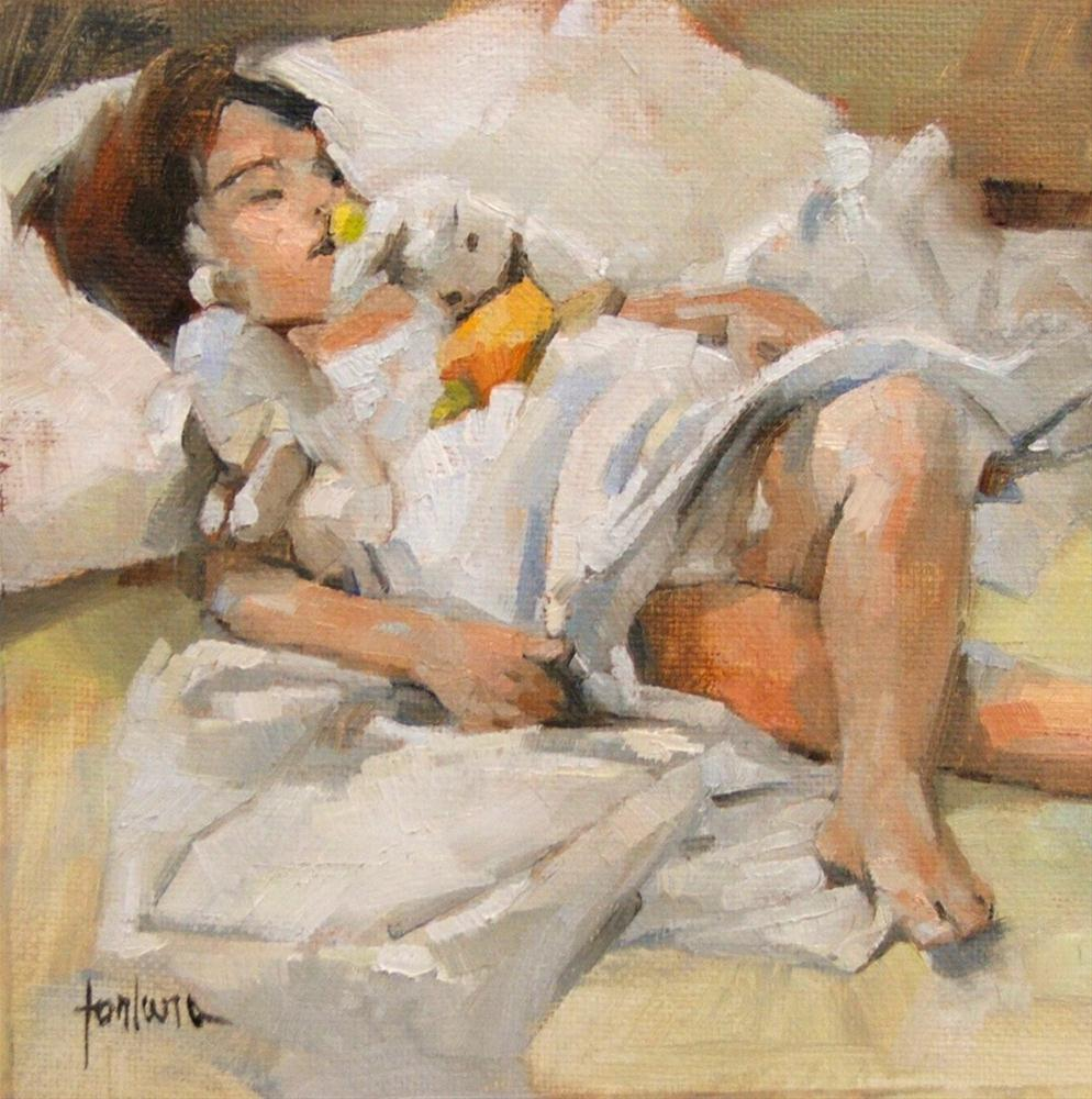 """Nap After The Beach"" original fine art by Francesco Fontana"
