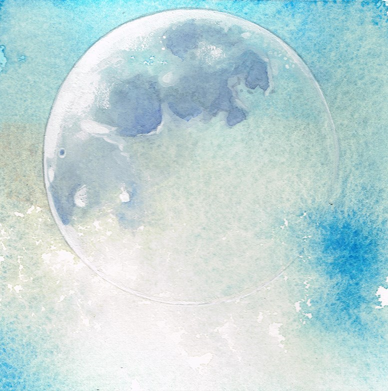 """No. 9 Moon"" original fine art by Annabel Chance"