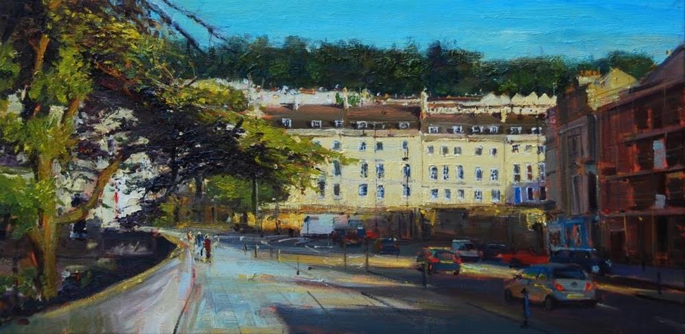"""Cleaveland place, Bath"" original fine art by Adebanji Alade"