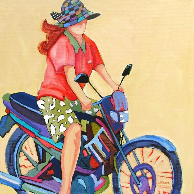 """The Daily Return"" original fine art by Carolee Clark"