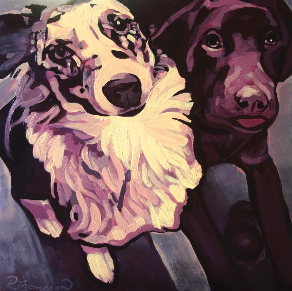 """Maci & Duke - Reserved"" original fine art by Rachel Thompson"