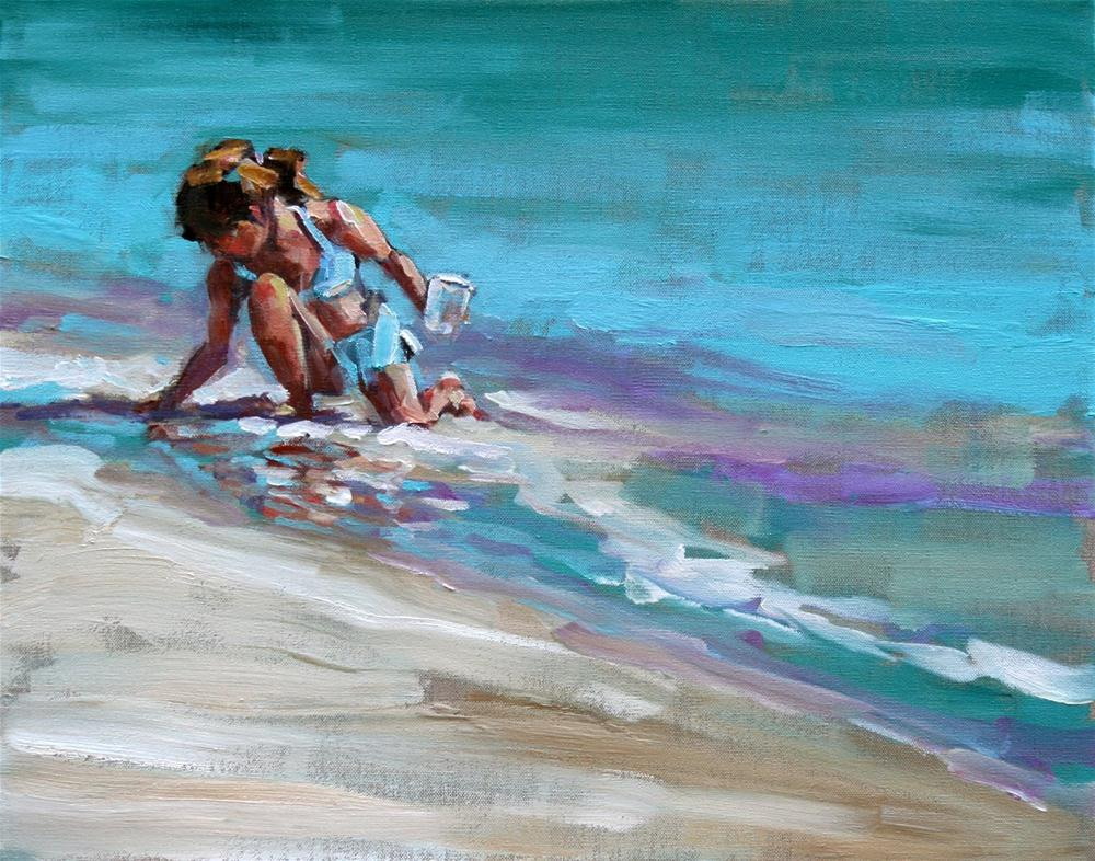 """gatherer"" original fine art by Carol Carmichael"