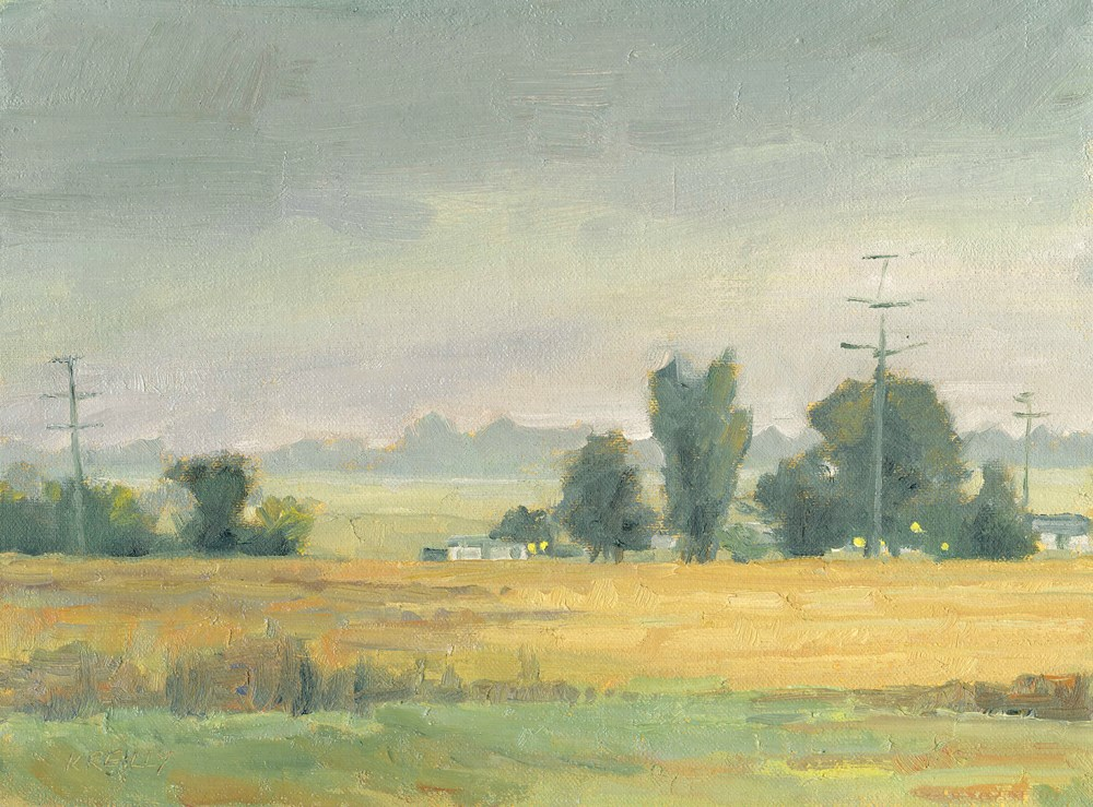"""Rainy Morning"" original fine art by Kath Reilly"