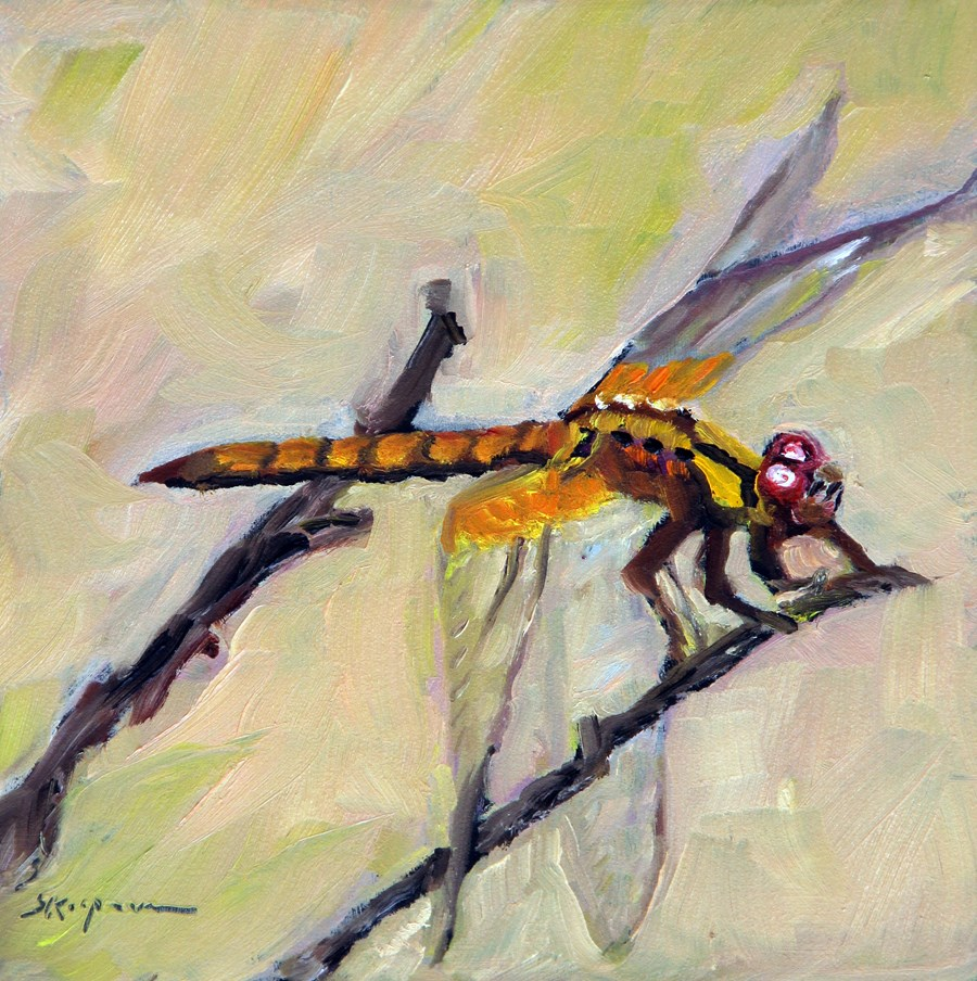 """Dragonfly"" original fine art by Shelley Koopmann"