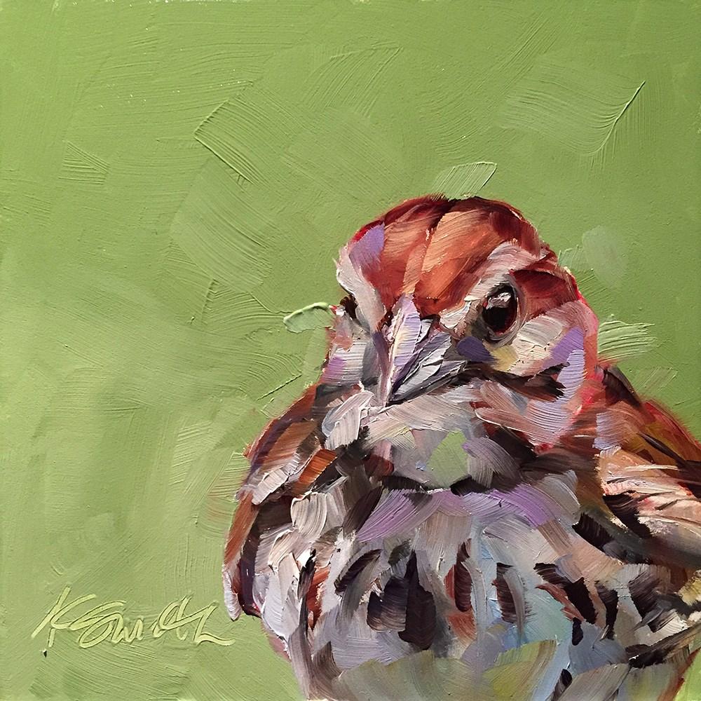 """sparrow"" original fine art by Kim Smith"