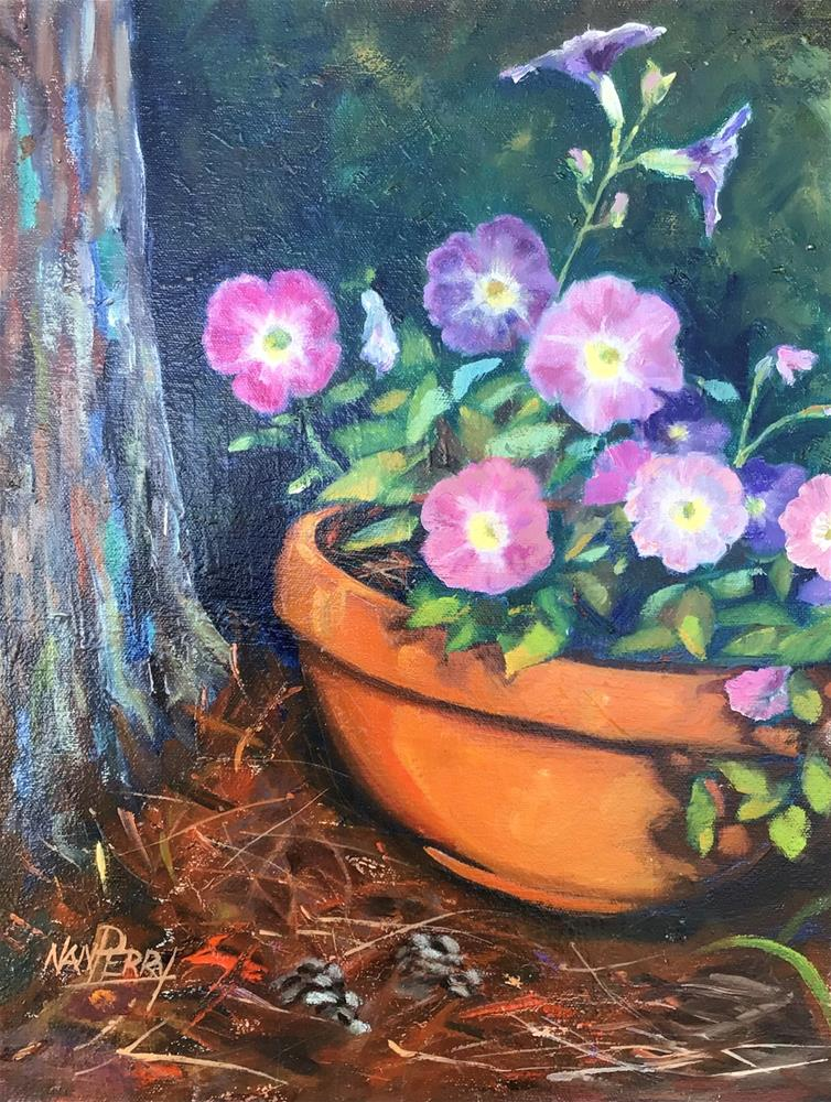 """Petunias"" original fine art by Nan Perry"
