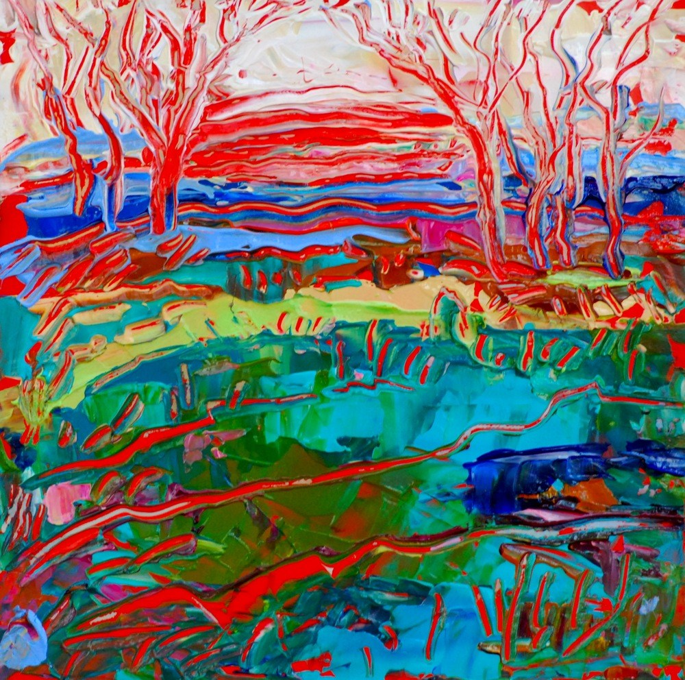 """Mississippi Sun"" original fine art by Vicki Wood"