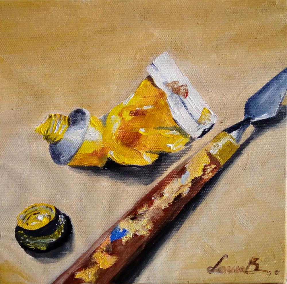 """Yellow"" original fine art by Laura B."