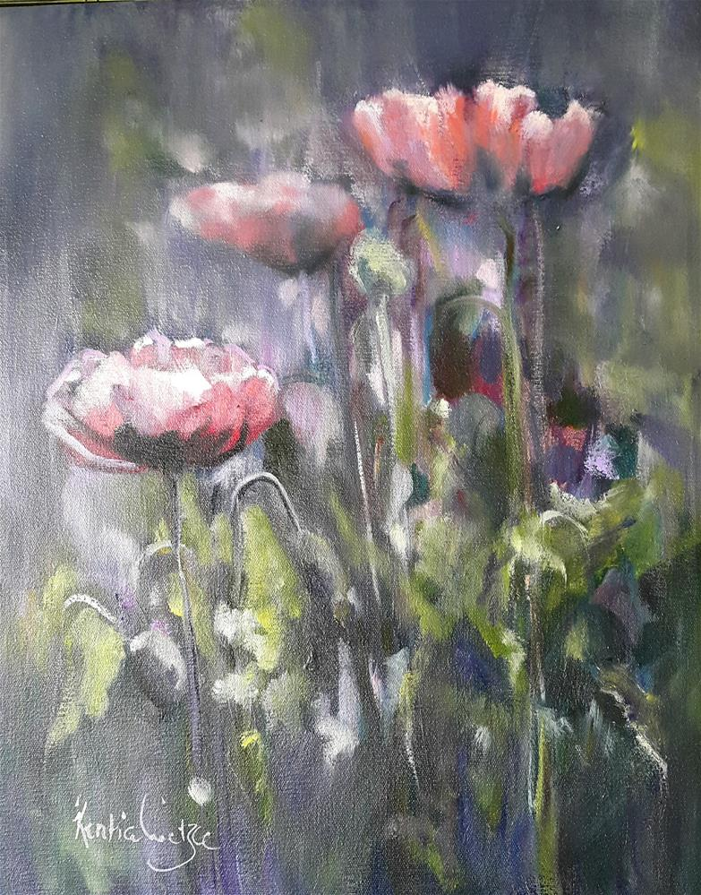 """Pretty poppies"" original fine art by Rentia Coetzee"