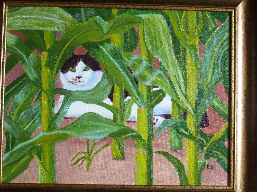 """""""Watching"""" original fine art by Elaine Shortall"""