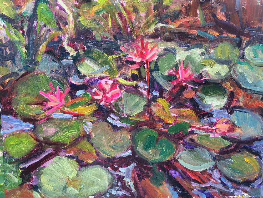 """Lily Pond"" original fine art by Yvonne Manipon"