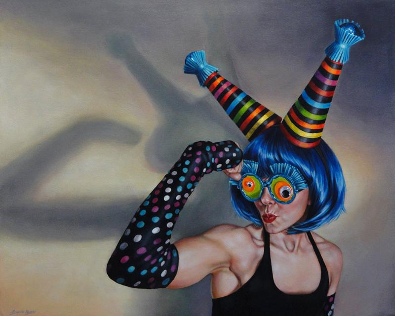 """Ms Beefcake Billy"" original fine art by Angela Hardy"