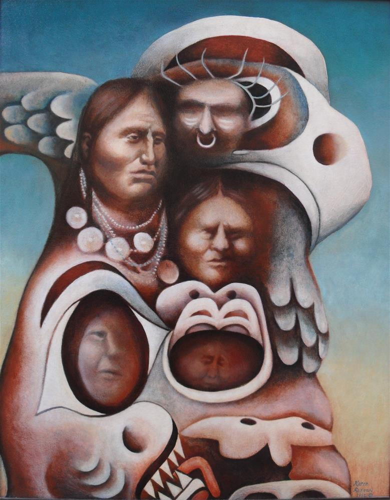 """People of the Totem"" original fine art by Karen Roncari"