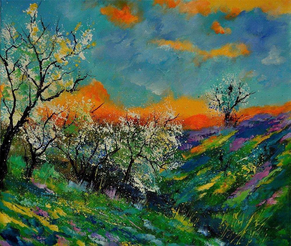 """spring 672101"" original fine art by Pol Ledent"