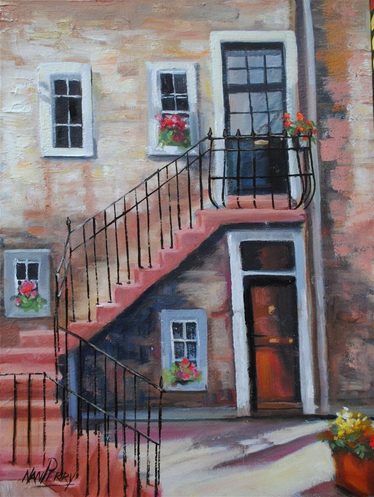 """Upstairs, Downstairs "" original fine art by Nan Perry"