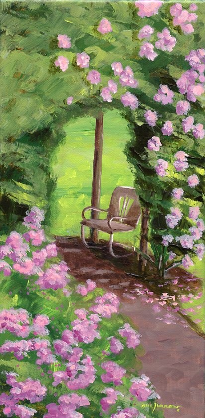 """Antique Chair"" original fine art by Sue Furrow"
