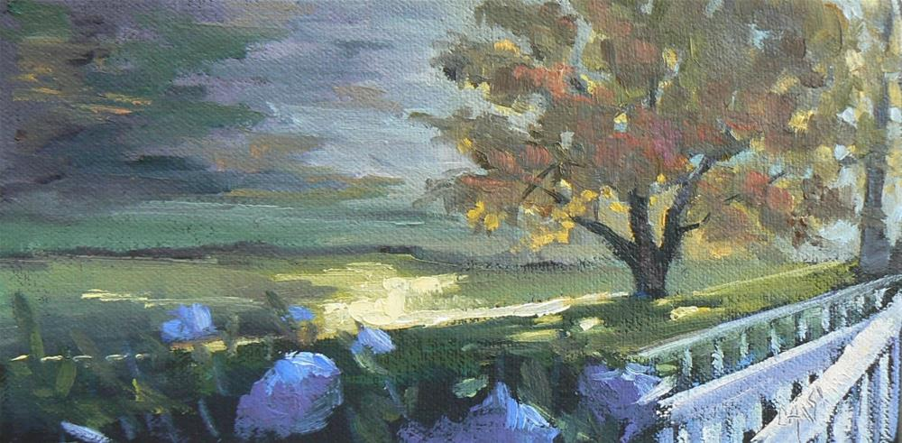 """Painting on Sale, Small Landscape, My Favorite Place 4x8 Oil, Wild and Wacky Wednesday"" original fine art by Carol Schiff"