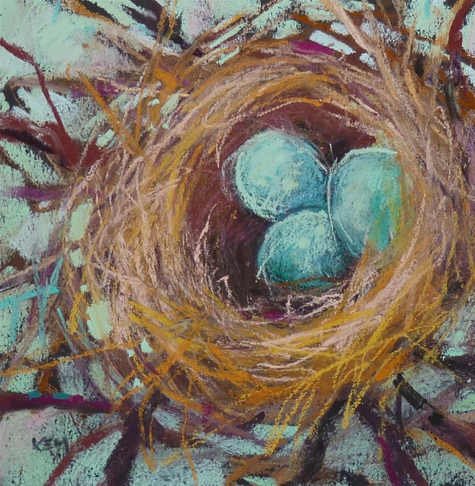 """Make More Art...March Madness Challenge. Painting Nests"" original fine art by Karen Margulis"