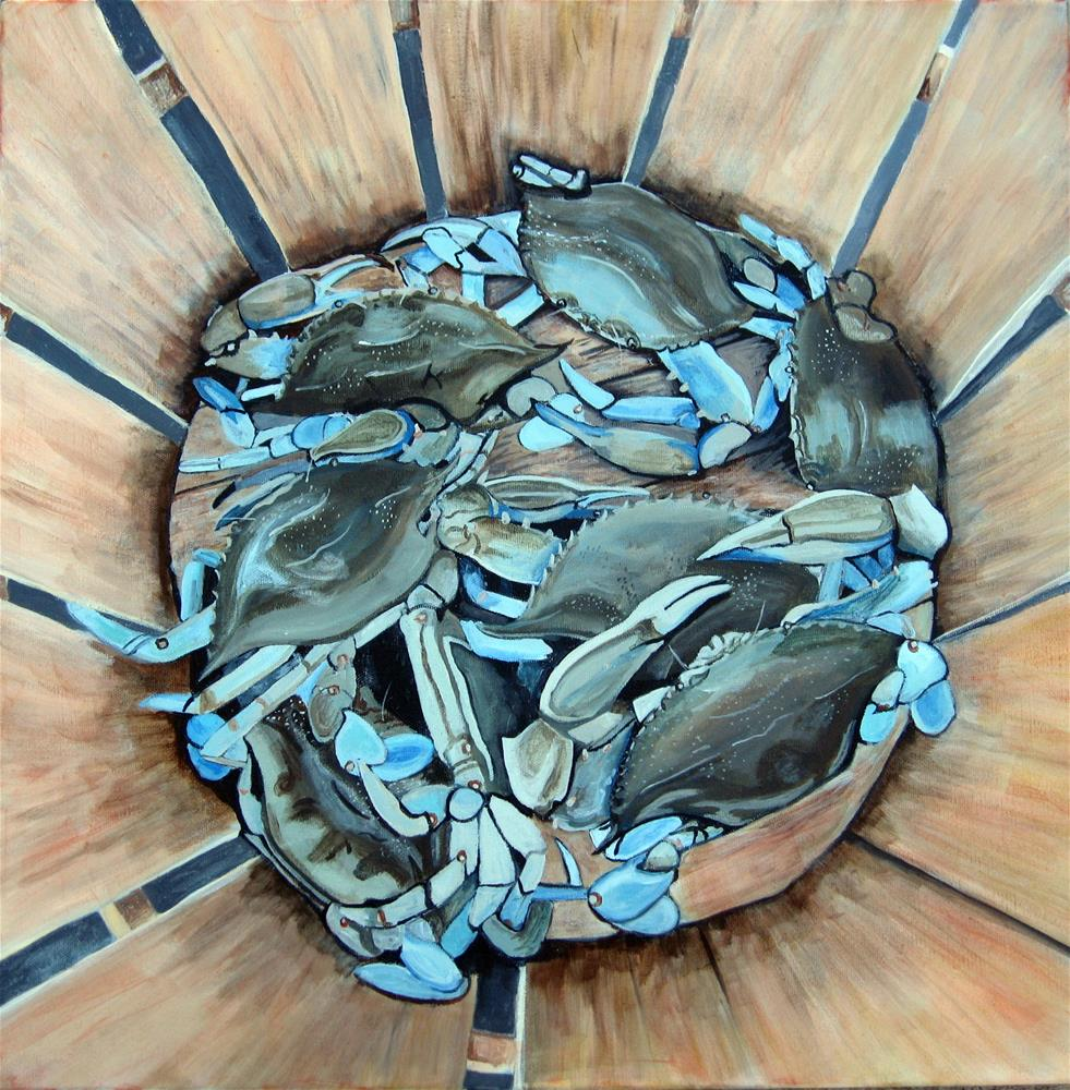 """""""Basket Crabs"""" original fine art by Lisa Wiertel"""