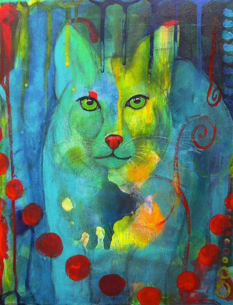 """The Sentry"" original fine art by Silke Powers"