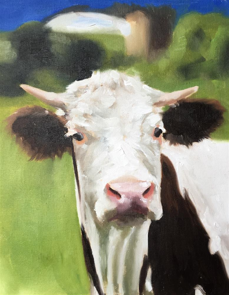 """Cow 2"" original fine art by James Coates"