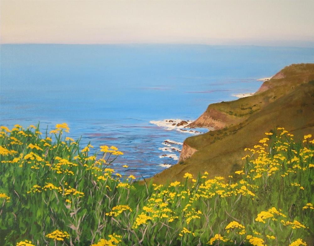 """Big Sur Overlook"" original fine art by Richard Doyle"