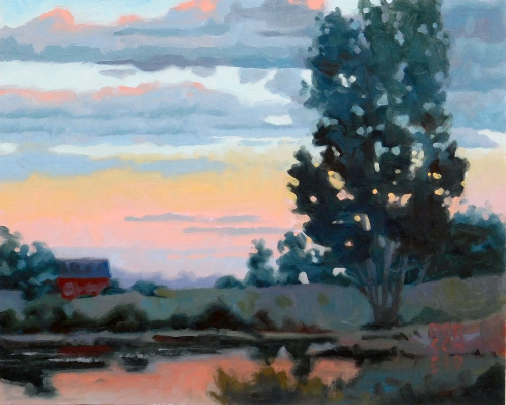 """Dawn Reflection."" original fine art by Les Dorscheid"