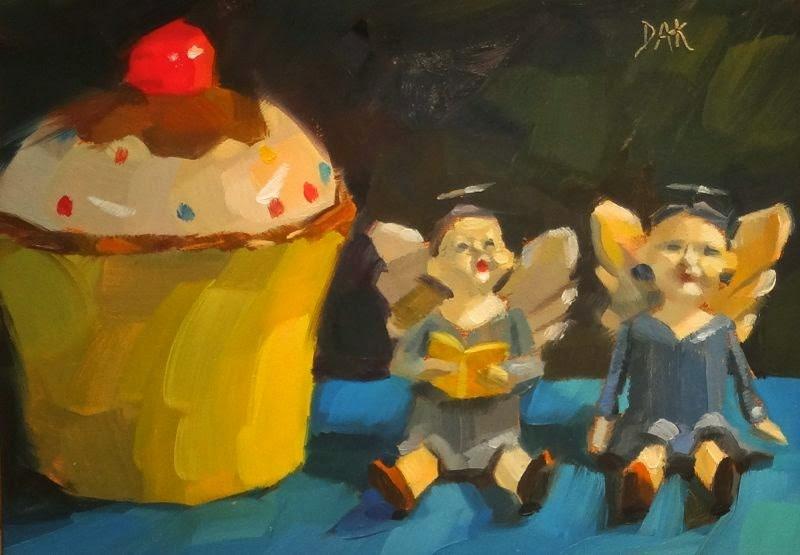 """Angel's Song"" original fine art by Deborah Ann Kirkeeide"
