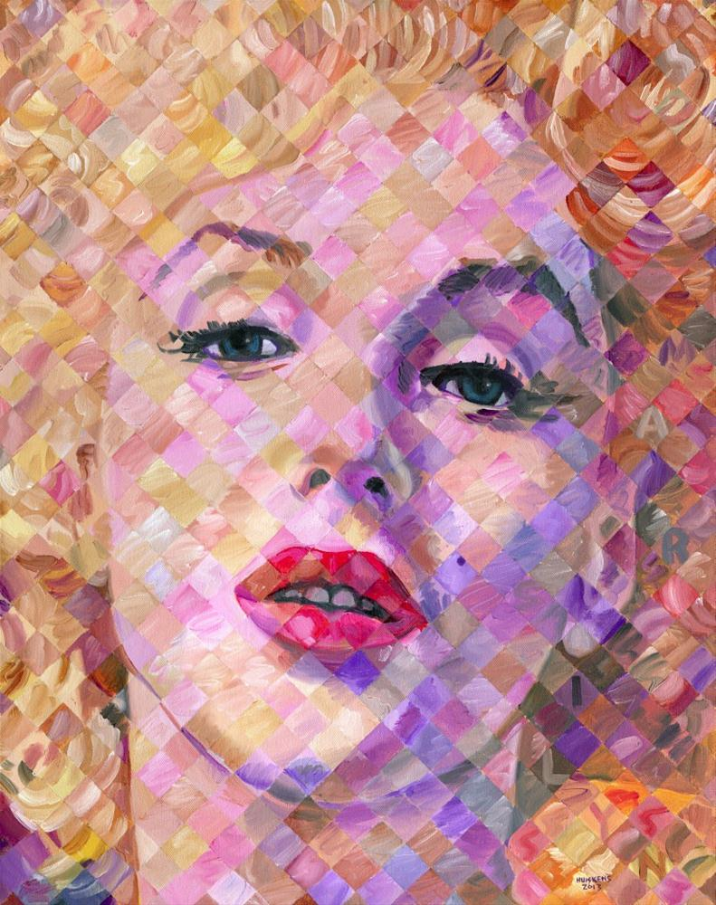 """Marilyn Monroe #4"" original fine art by Randal Huiskens"