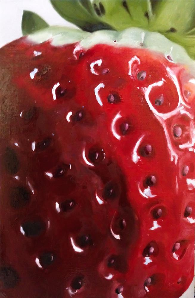 """Big Strawberry"" original fine art by James Coates"