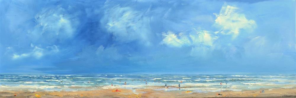 """Beach scene Vlieland"" original fine art by Wim Van De Wege"