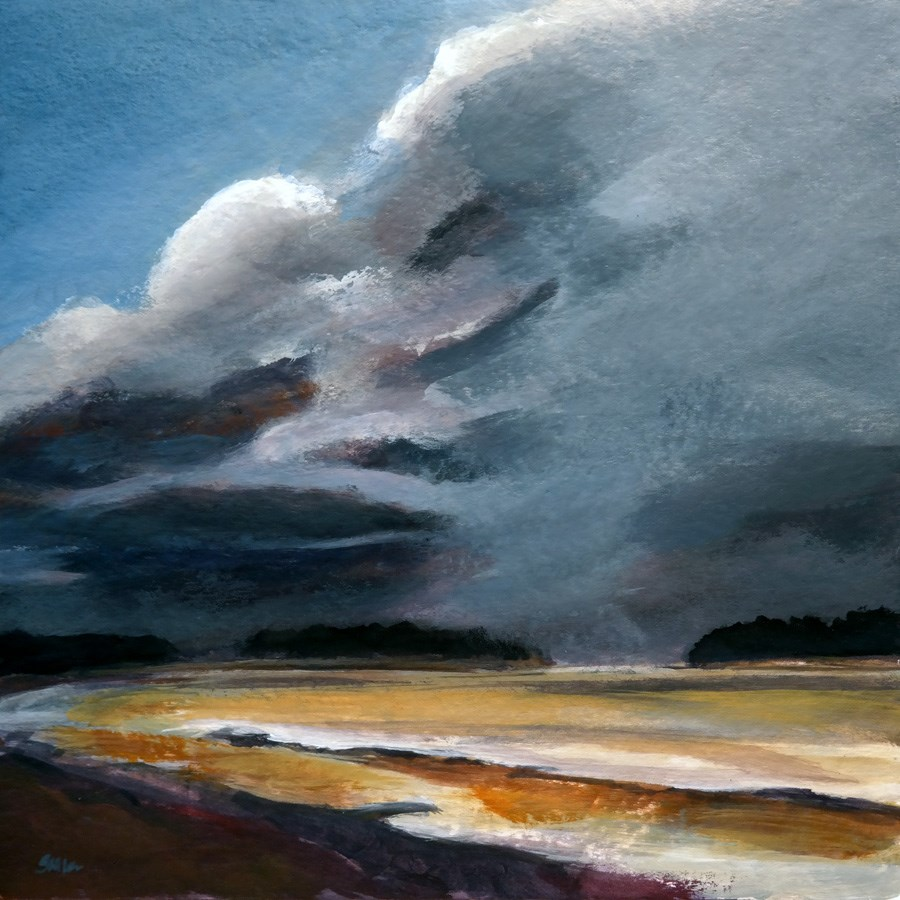 """1122 Storm Front"" original fine art by Dietmar Stiller"