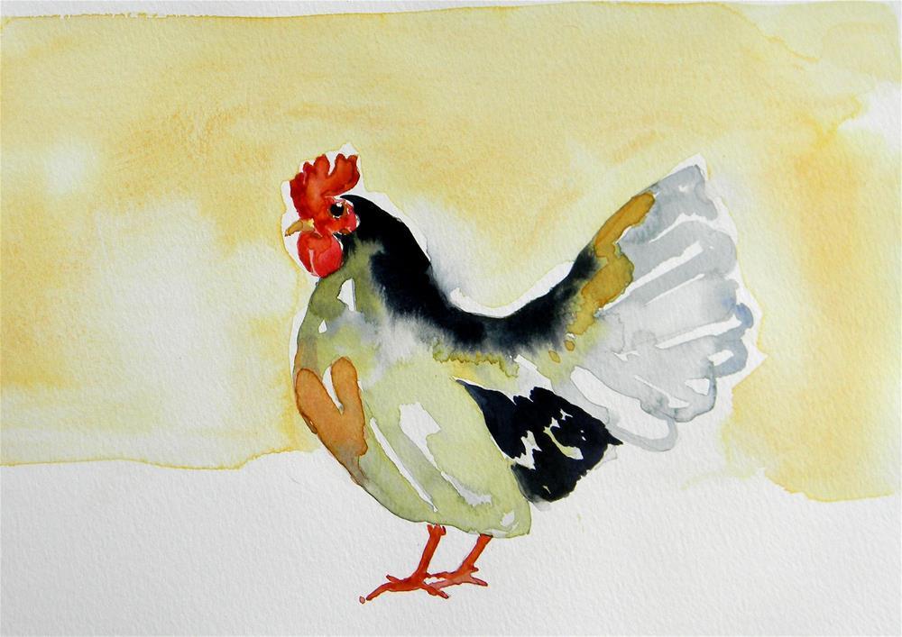 """Chicken Hearted"" original fine art by De Selby"