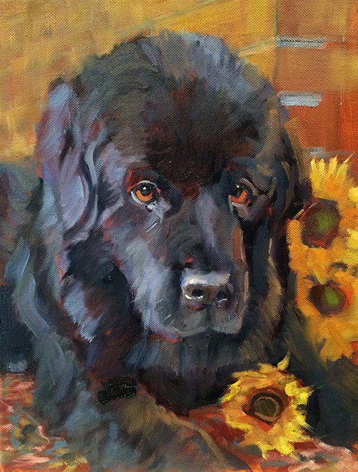 """Molly"" original fine art by Deborah Newman"