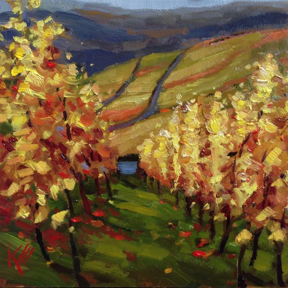 """Napa Valley in Fall"" original fine art by Krista Eaton"