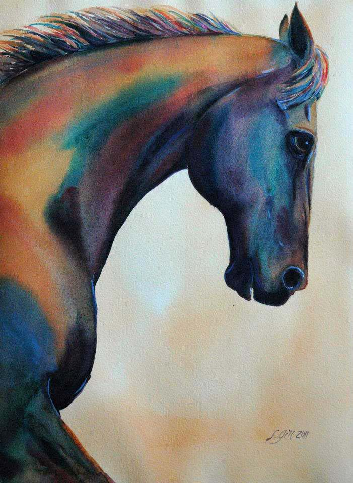 """Paint Pony 30"" original fine art by Lyn Gill"