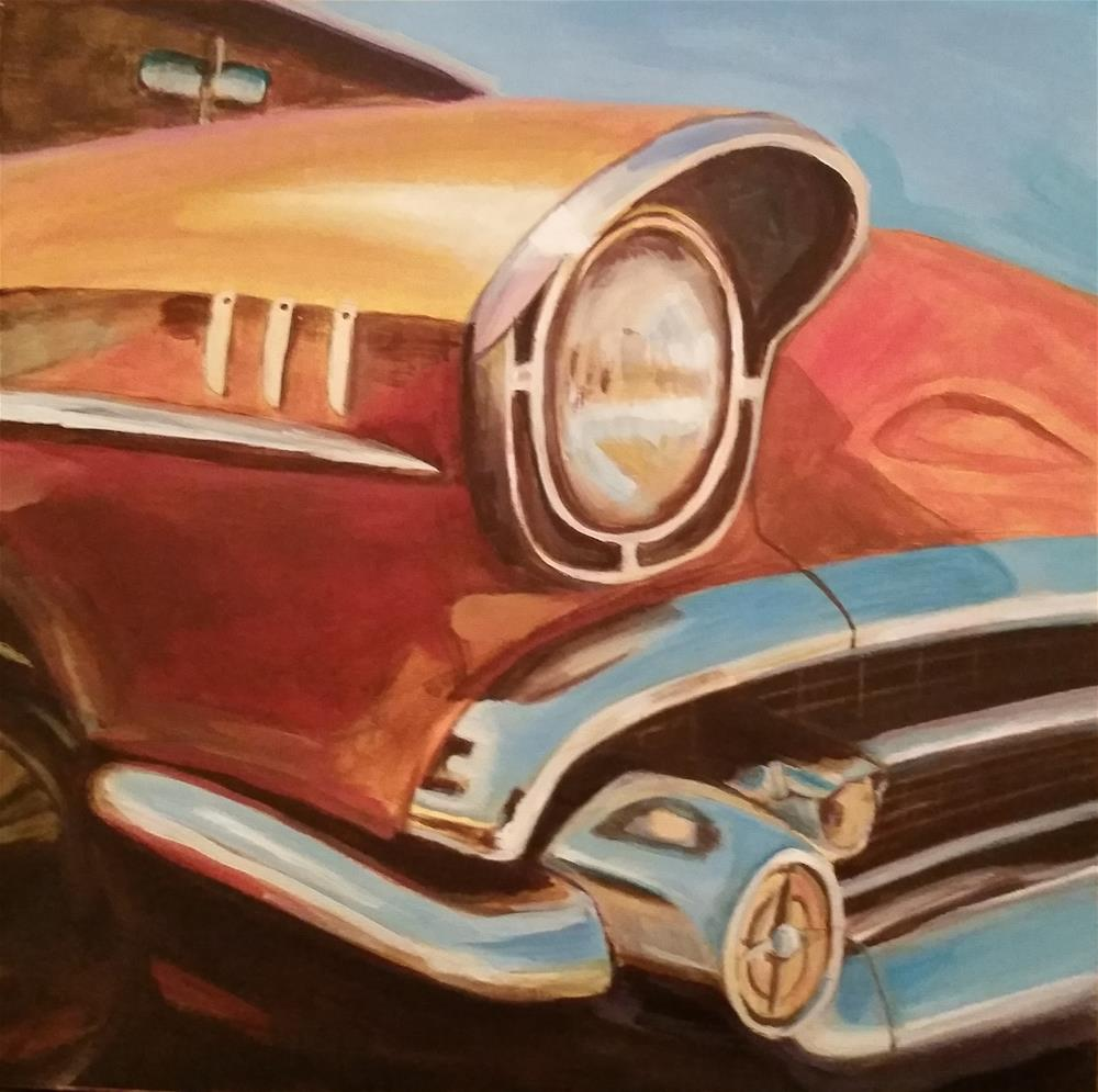 """chrome bumpers"" original fine art by Janice Cook"