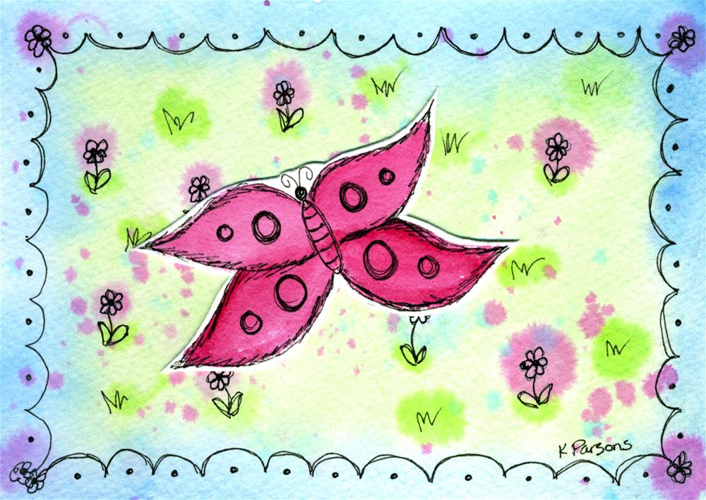 """Butterfly in the Meadow"" original fine art by Kali Parsons"