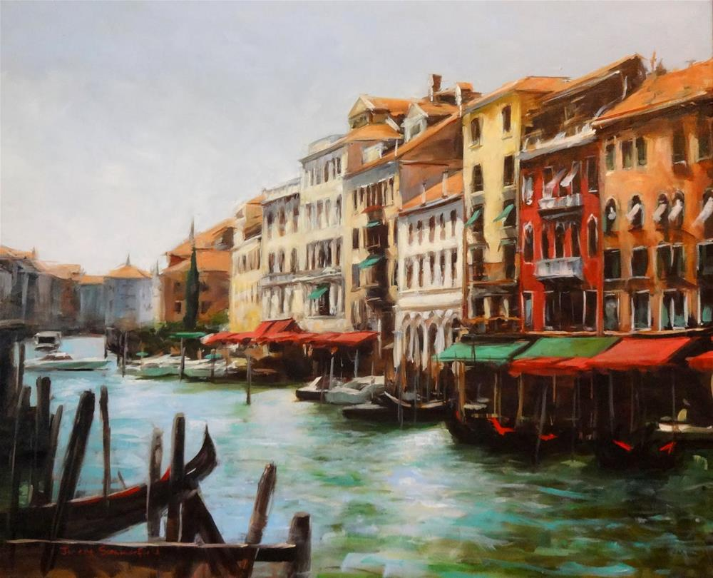 """Venice Canal IV"" original fine art by Jonelle Summerfield"