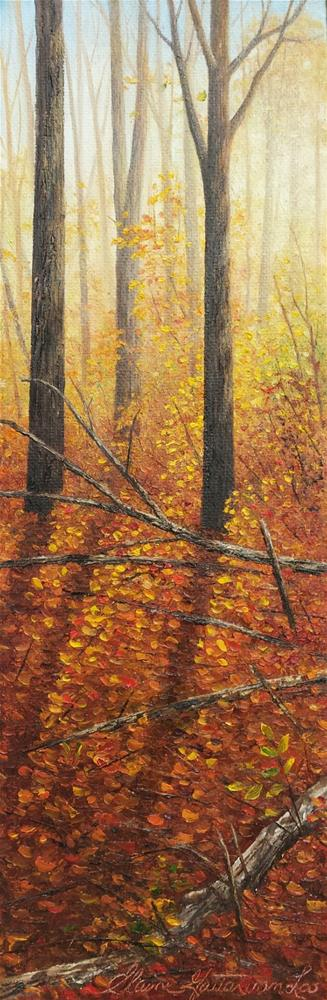 """Golden Sunrise"" original fine art by Elaine Guitar van Loo"