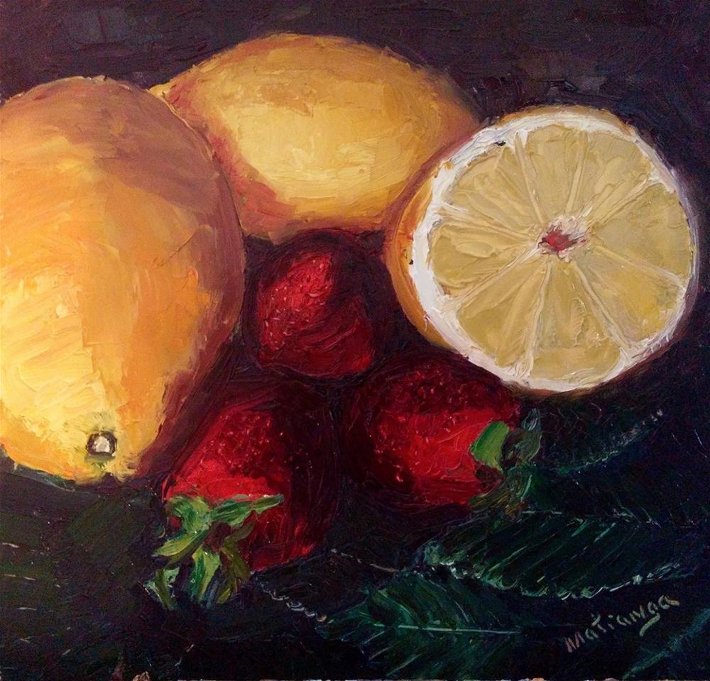 """Strawberry Lemonade - Coming Soon"" original fine art by Patricia Matranga"