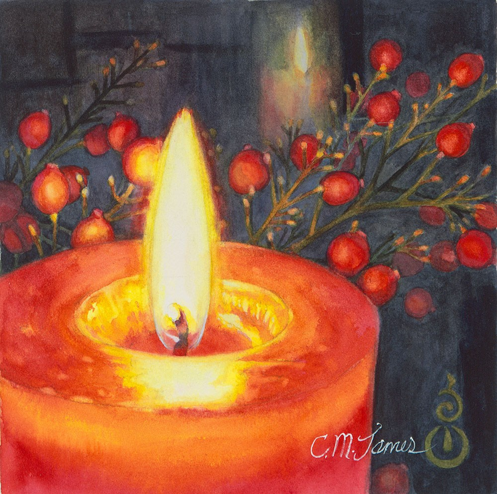 """The Light Shines in the Darkness"" original fine art by Catherine M. James"