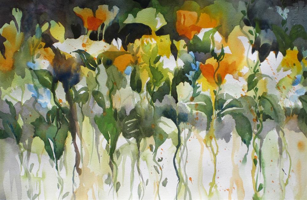 """Spring Blooms"" original fine art by Julie Crouch"