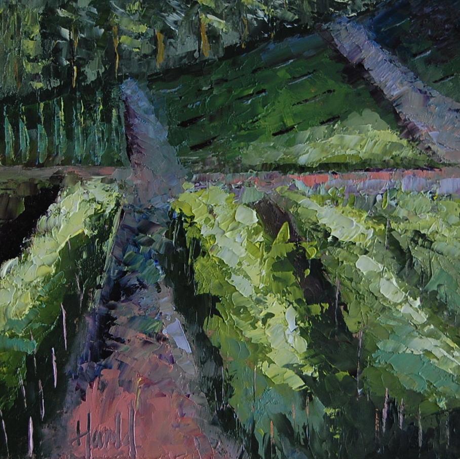 """End of the Day at White Rose Estate"" original fine art by Deborah Harold"