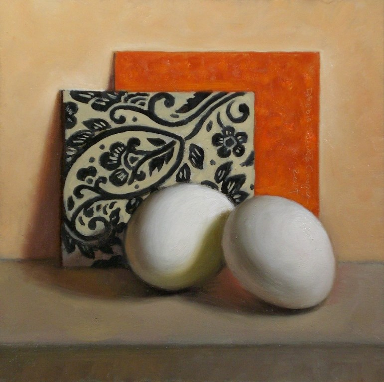 """Eggs and Decorative Papers"" original fine art by Debra Becks Cooper"