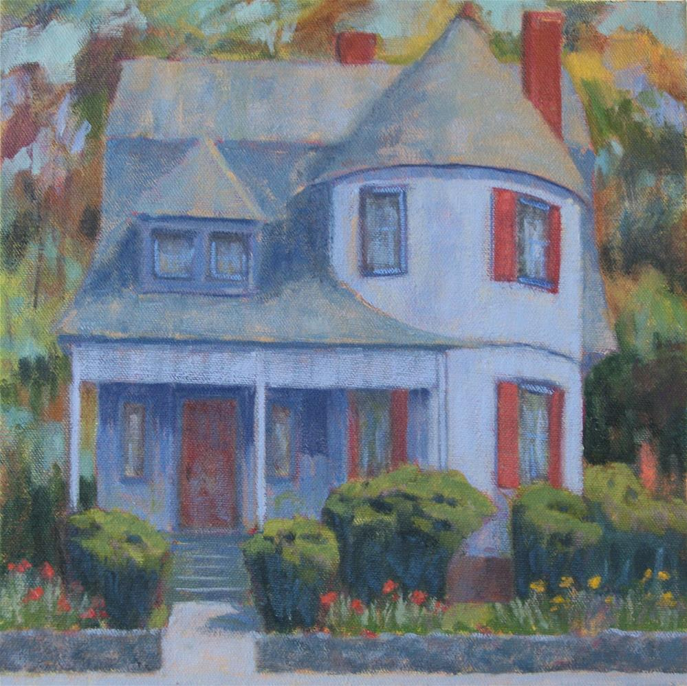 """Blue House-Riverside Drive"" original fine art by Katharine March"